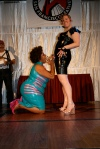 Ms. Alotta Boutté 'receiving' her Entertainer of the Year award from Leland!